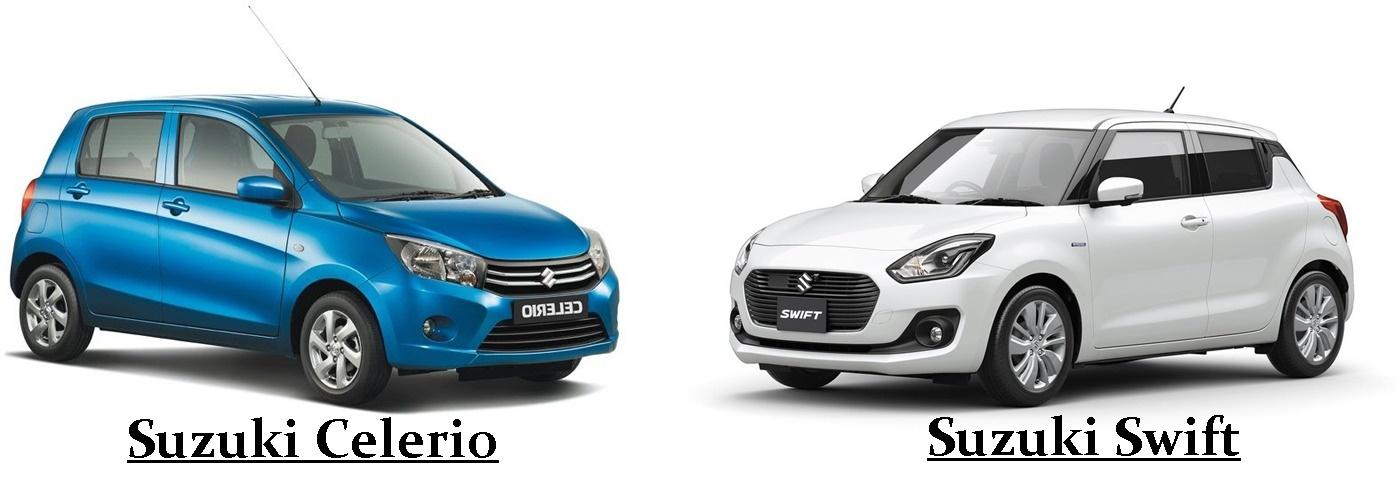 Difference Between Suzuki Swift And Suzuki Celerio