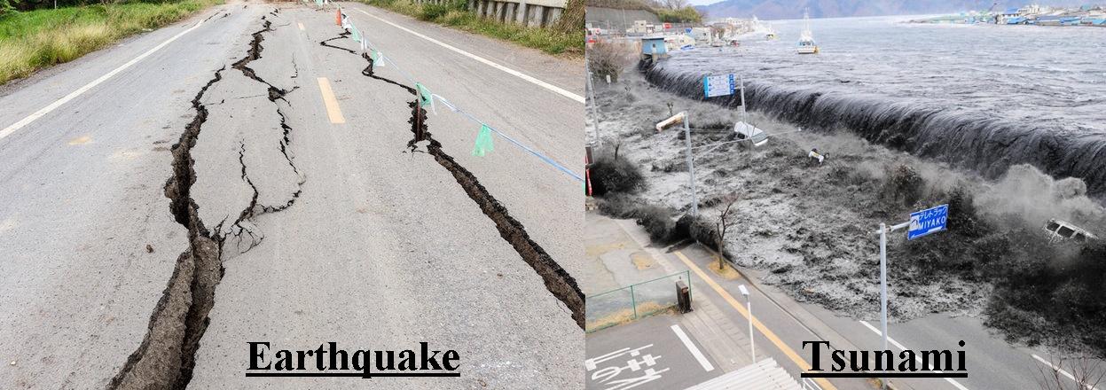 Image result for EARTHQUAKE AND TSUNAMI