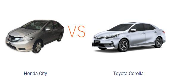 Comparison Between Honda City Aspire And Toyota Corolla GLI