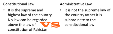 Difference Between Administrative Law And Constitutional Law In Pakistan