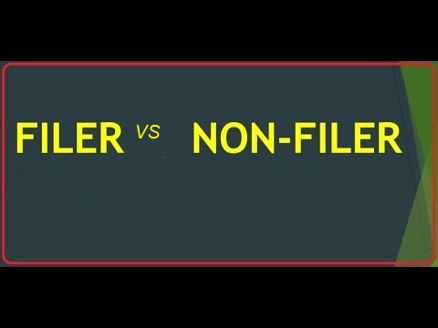 Difference Between Filer And Non Filer In Pakistan