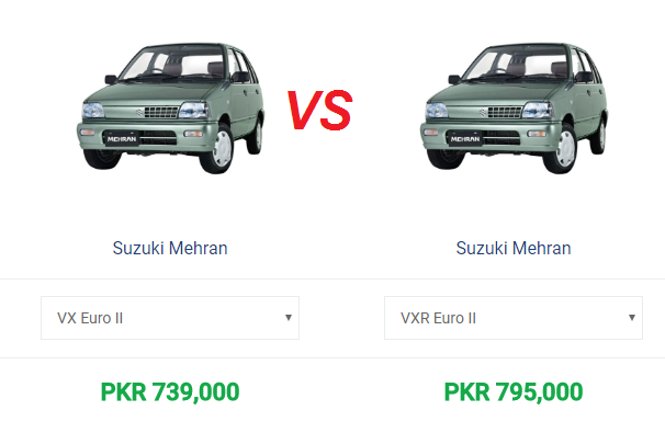Difference Between Mehran Vx And Vxr 2018