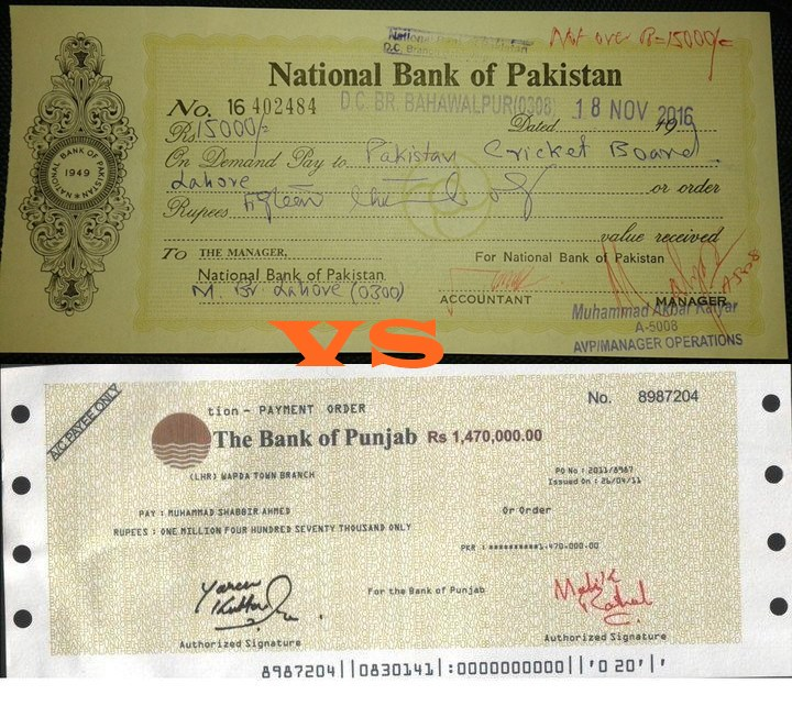 Difference Between Pay Order And Demand Draft In Pakistan