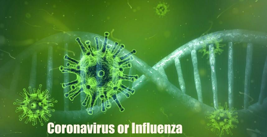 Difference Between Coronavirus and Influenza (flu)