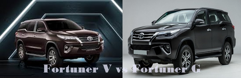 Difference Between Toyota Fortuner G and V