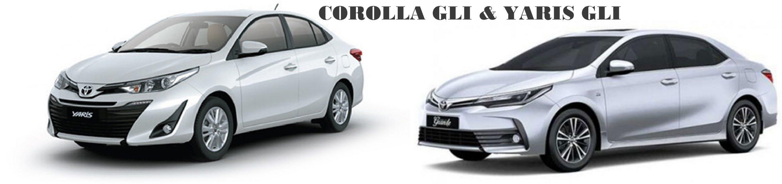 Difference Between Toyota Corolla GLi and Toyota Yaris GLi